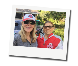 Beth Dillaha in a selfie with a client