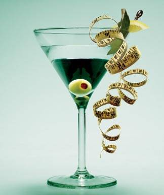 Martini Glass with Tape Measure for Weight Loss